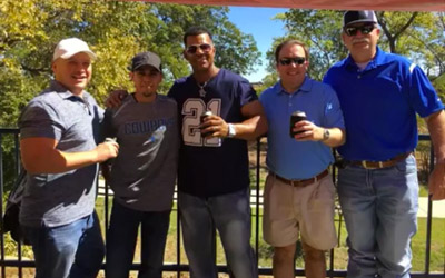 Trident Team at Cowboys and Packers Game